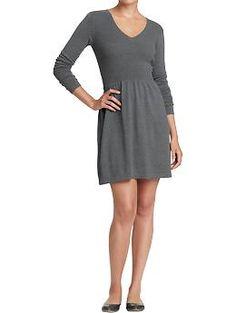 Women's Rib-Knit Sweater Dress (Graphite Heather). Old Navy. $39.94