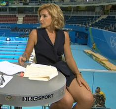 'Risque' Helen Skelton is axed from BBC Commonwealth Games coverage after controversy over her revealing outfits Mini Skirts, Blue Peter Presenters, Helen Skelton, Bbc Presenters, White Playsuit, White Dress, Commonwealth Games, Holly Willoughby, Exercises