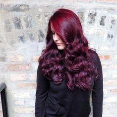 Curly Multi-Tone Burgundy Hair