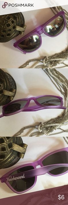{F R E E } Sunglasses 😎 Bundle w/ 1+ items Purple Knockaround sunglasses 😎 Free when added to any bundle of 1 or more other items. Excludes other free items. Bundle and save!! Private discount given with your bundle Accessories Sunglasses