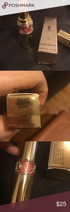 Ysl lipstick New YSL ROUGE VOLUPTE SHINE Makeup Lipstick