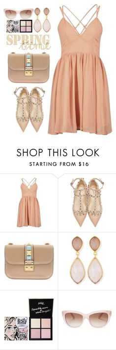 """""""time and style cute"""" by licethfashion ❤ liked on Polyvore featuring Valentino, Dina Mackney, Pop Beauty, Kate Spade, polyvoreditorial and licethfashion"""