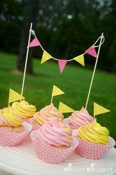 strawberry lemonade cupcakes. sounds pretty delicious!