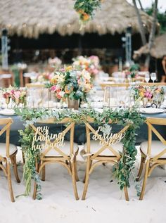 Beach wedding table decor: http://www.stylemepretty.com/2017/05/19/a-colorful-tulum-mexico-lovefest/ Photography: Vanessa Jaimes - http://vanessajaimes.com/