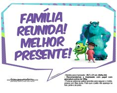Uau! Veja o que temos para Plaquinhas para Festa Monstros SA 6