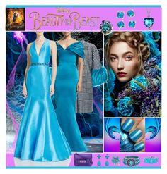 """""""Disney's 'Beauty and the Beast' Gown"""" by yours-styling-best-friend ❤ liked on Polyvore featuring Amanda Rose Collection, Karma Jewels, Allurez, Blue Nile, Ava Adore, Zac Posen, ML Monique Lhuillier, Proenza Schouler, Disney and Mixit"""