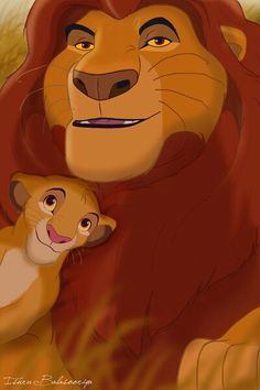 Mufasa and Simba.