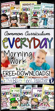 Common Core Aligned Daily Work for Kinders Plus some FREEBIES