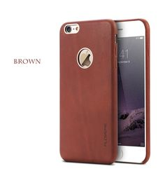 FLOVEME i6 4.7 5.5 Retro Real Genuine Leather +Brand Logo Hole Case For iPhone 6 6S For iPhone6 Plus/ 6S Plus Fashion Back Cover - free shipping worldwide