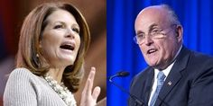 http://www.wnd.com/2015/02/michele-bachmann-joins-voices-defending-giuliani/ Michele Bachmann, left, Rudy Giuliani, right