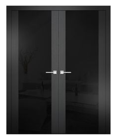 Sarto Quadro 6017 Interior Door Black Ash Lacobel Glass