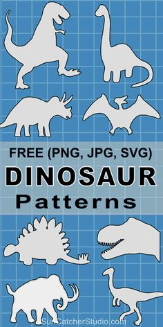 Free printable Dinosaur patterns stencils templates and silhouettes for coloring scroll saw laser cutting sewing and DIY crafts. Dinosaur Template, Dinosaur Stencil, Dinosaur Pattern, Dinosaur Printables, Dinosaur Outline, Dinosaurs Preschool, Dinosaur Activities, Preschool Activities, Dinosaur Crafts Kids