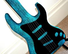 Glam Rock Electric Guitar Pillow Guitar Softie by VoxandDolly, $74.95