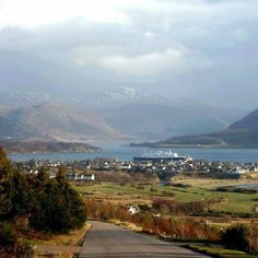 View of Ullapool, Scotland.