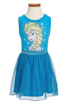 Mighty Fine 'Disney's Frozen - Starry Elsa' Sleeveless Dress (Toddler Girls, Little Girls & Big Girls) available at #Nordstrom