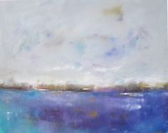 Original Abstract Ocean Seascape Painting - Seascape with Purple 28 x 22. $345.00, via Etsy.