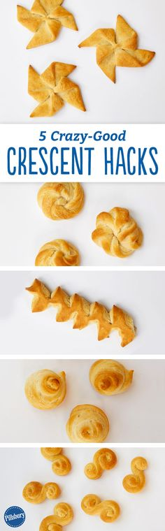 Use Pillsbury crescents to create these fun shapes! These remakes of classic crescent rolls are great for soups, bakes and even your favorite dips. The flaky bread is a perfect side to your dinner favorites.