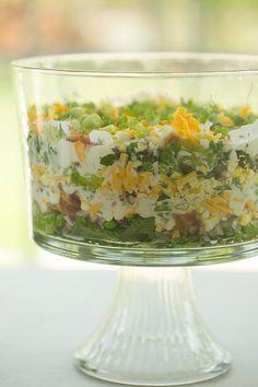 7 Layer Salad | browneyedbaker.com #recipe