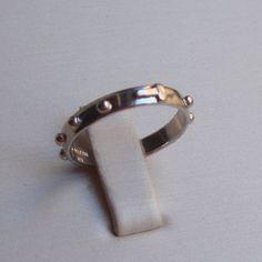 Anello rosario in argento rodiato lucido GioielliVarlotta