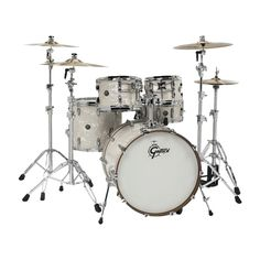 The Gretsch Renown Series drums will do it all and do it well. With attack and projection, the Renown series kits are some of the most versatile ever playe. 4 Piece Drum Set, 3 Piece, Zildjian Cymbals, Gretsch Drums, Blue Yeti, Snare Drum, Bass Drum, Drum Machine, Drum Kits
