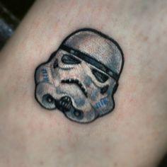 Companion to the quarter sized fett... The quarter sized trooper... starwarstattoo starwars stormtrooper trooper by inkandpistons - instaview.me