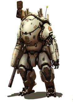 Landmate style powered armor. (USMC)