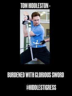 I'm not going to go there. I'm just going to acknowledge the picture and have jealousy that he gets to learn how to sword fight.