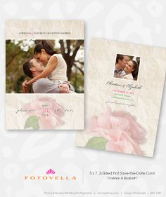 Save The Date - Engagement Announcement Photoshop Template  by FOTOVELLA Engagement Announcement Cards, Photography Templates, Save The Date Templates, Save The Date Cards, Wedding Planning, Wedding Ideas, Photo Cards, Dating, Photoshop