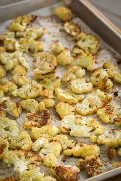 Roasted Cauliflower by afoodcentriclife: Cauliflower is a non-starchy, low-glycemic, cruciferous vegetable packed with vitamins (especially vitamin C and other antioxidants,) minerals and fiber. Roasting cauliflower brings out its natural, nutty sweetness. Make more than you think you need. It is terrific! #Cauliflower #Healthy