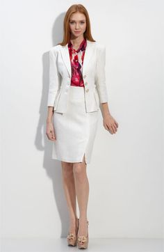 A beautifully tailored white jacket for spring/summer is a gorgeous way to keep your cool.