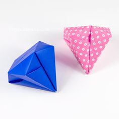 Easy Origami Square Diamonds Tutorial Youtube IbEvdKOQHFs Made From 1 Sheet Of Paper No Glue Or Scissors Required Paperkawaii