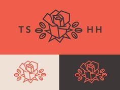 Rose Logo Emblem by Jennifer Hood for Hoodzpah
