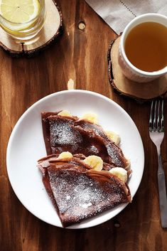 Czekoladowe naleśniki Crepes, Food Art, French Toast, Food And Drink, Cooking Recipes, Breakfast, Ethnic Recipes, Food Ideas, Foods