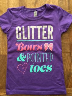 Cheer Love Glitter Bows and Pointed Toes T – Cheer Love Apparel