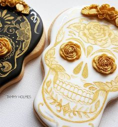 Sugar skull cookies by Tammy Holmes