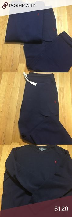 Polo Ralph Lauren Sweatsuit Navy blue Sweatsuit Top XL; Bottom L Polo by Ralph Lauren Shirts Sweatshirts & Hoodies