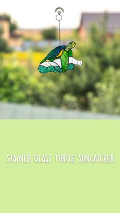 Custom Stained Glass, Suncatchers, Turtle, Animals, Turtles, Animales, Animaux, Tortoise, Animal