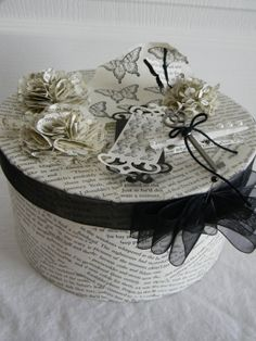Altered Paper Mache Box by PaperFlairByLinnaire on Etsy, $20.00