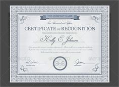 Amazing Photo Realistic Certificate Templates  Free