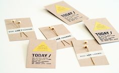 Make a lasting impression with handmade business cards.