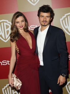 Golden Globes In Style party. Orlando Bloom and Miranda Kerr