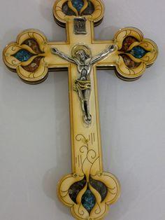 Jesus Wall Crucifix With Ornate Design Christian Cross