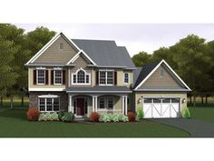 ePlans Country House Plan – Great Four Bedroom Plan Ideal For All Families – 2378 Square Feet and 4 Bedrooms from ePlans – House Plan Code H...