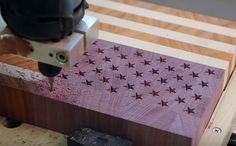 I'm new to this CNC and wondering about something.  I currently make small wood projects, cutting boards, coasters, etc.... I have been really tossing around the idea of getting a CNC machine for a simple project.  I want to make a cutting board US flag using three different types of wood.  I have seen several different methods of doing this.  Is the X-Carve capable of doing this?  i'm not sure  if all CNC machines are created equal. So i'd like to make this, but would like to rep...