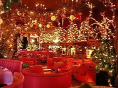 Madonna Inn, San Luis Obispo, CA - This locally-inned hotel and restaurant is quite opulent, colorful, and actually over-the-top in its decor...but ever so memorable!