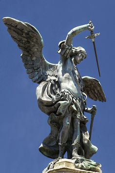 The angel Michael atop the Mausoleum of Hadrian (Castel Sant'Angelo) in Rome.