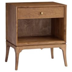 "Redford House Bennett 1 Drawer Nightstand - 22""Wx16""Dx26.5""H, white painted finish + brass handles, $975"