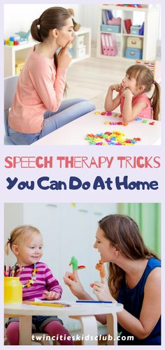 Twin Cities Kids Club Blogs: Speech Therapy Tricks You Can Do At Home - Speech therapy at home would be great if you could get your kid to sit down with you and work on it! Children with speech and language problems typically don't want to sit down and work on it because it's so difficult for them. | Kids Speech Therapy | Speech Therapy At Home | Kids Speech Problem Solutions | Parenting Tips Play Based Learning, Hands On Learning, Learning Through Play, Kids And Parenting, Parenting Hacks, Children Toys, Problem And Solution, Twin Cities, Reggio