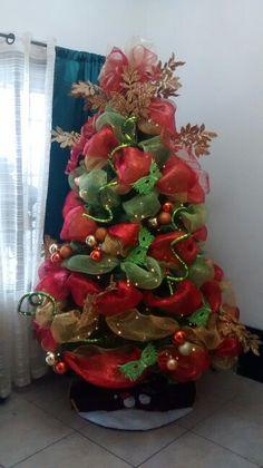 Gr fico de rbol geneal gico vertical verde rojo - Arbol de navidad dorado ...