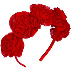 Vjera Vilicnik - Dianthus Headband (€47) ❤ liked on Polyvore featuring accessories, hair accessories, head wrap hair accessories, floral headbands, flower headwrap, floral headwrap and hair band accessories